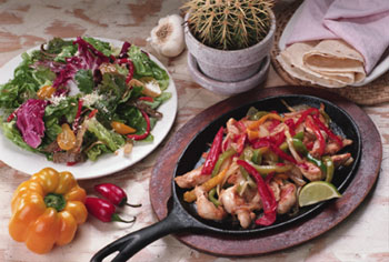 Mexican Dish With Salad